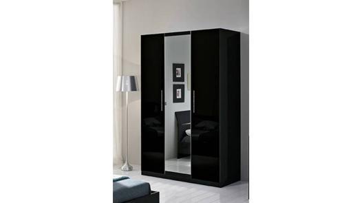 armoire noir laqué