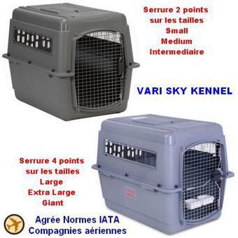 cage de transport pour chien avion