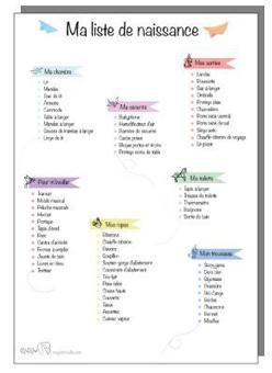 créer une liste de naissance