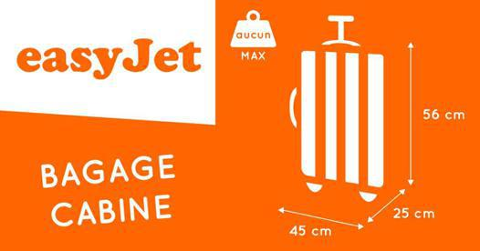 dimension bagage main easyjet