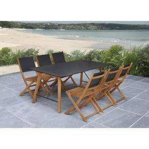 ensemble table chaise jardin