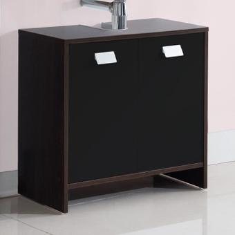 meuble sous vasque noir