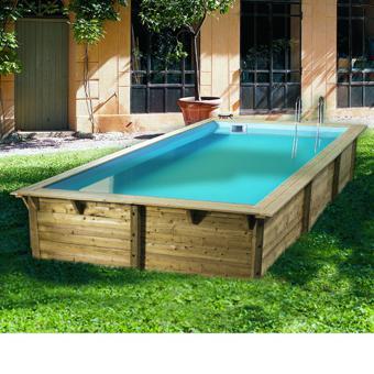 piscine en bois rectangulaire