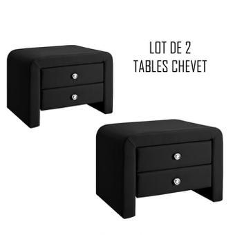 table de chevet noir