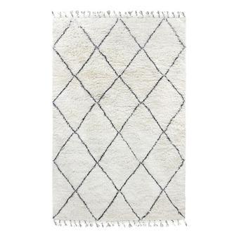 tapis losange noir et blanc