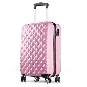 valise rose rigide