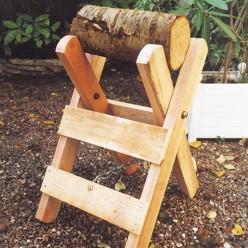 chevalet pour couper du bois