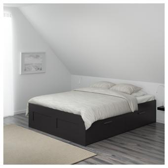 cadre lit avec rangement