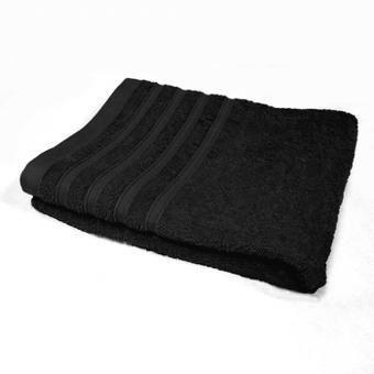 serviette de bain noir