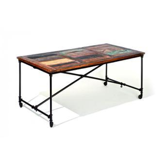 table sur roulettes
