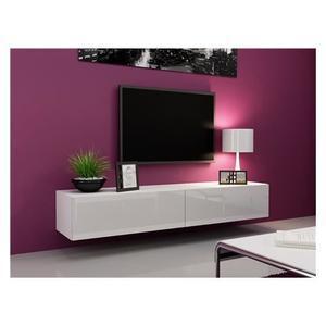meuble tv accroché au mur